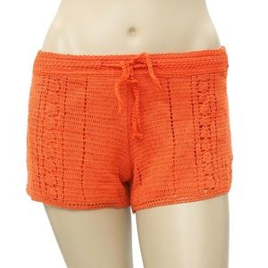 Element Crochet Lace Draw String Orange Shorts S